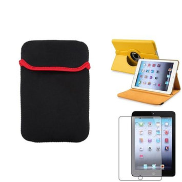 Insten iPad Mini 3/2/1 Case, by INSTEN Yellow 360 Leather Case Cover+Matte SP/Sleeve for iPad Mini 3 2 1