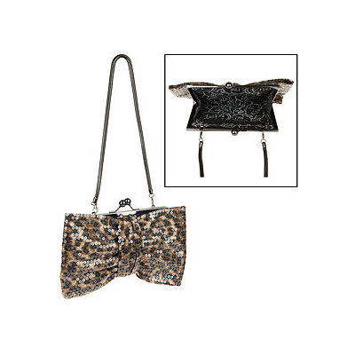 Betseyville by Betsey Johnson Handbags Sequin Cheetah Bow Clutch