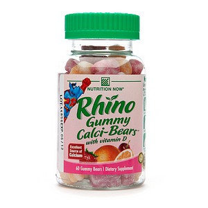 Nutrition Now Rhino Gummy Calci-Bears with Vitamin D
