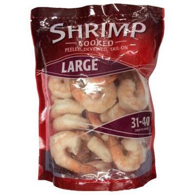 Generic Walmart Cooked, Peeled, Deveined, Tail-On, Large Shrimp, 12 oz