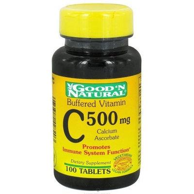 Buffered Vitamin C 500mg - Calcium Ascorbate, 100 tabs,(Good'n Natural)