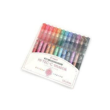 Pilot Hi-Tec-C Maica Gel Ballpoint Pen, 12 Color Set, Fine (LHM180C4-12C)