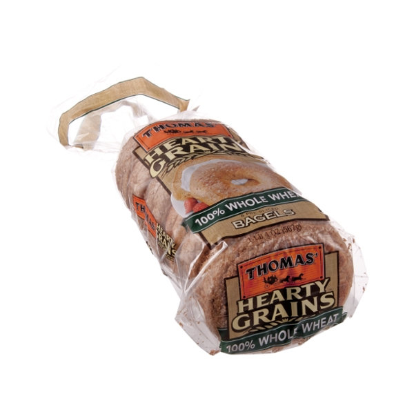 Thomas' Hearty Grains 100% Whole Wheat Bagels - 6 CT