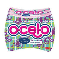 O-Cel-O ocelo Light Duty Scrub Sponge, 3-Count (Pack of 4)