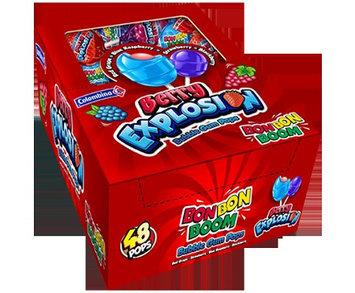 Bon Bon Boom Lollipops, Berry Explosion, Box Of 48
