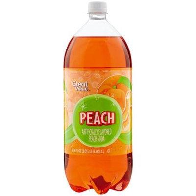 Great Value Peach Soda, 2 l