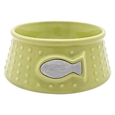 Cat-it Catit Style Ceramic Dish Dot - Lime