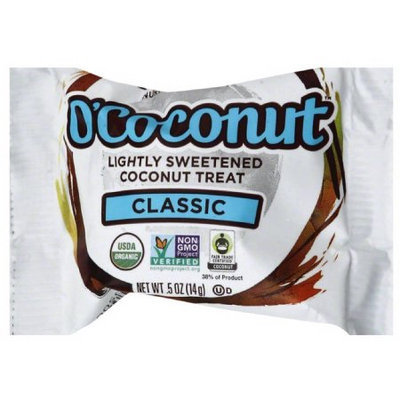 Nutiva O'Coconut Classic Lightly Sweetened Coconut Treat, .5 oz, (Pack of 24)