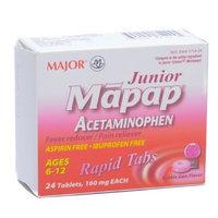Major Junior Strength Chewable Non Aspirin Tablets 24/box