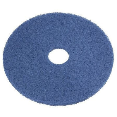 TOUGH GUY 6XZZ2 Recycled Cleaning Pad,17 In, Blue, PK5