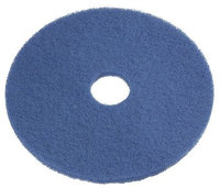 TOUGH GUY 6XZZ0 Recycled Cleaning Pad,13 In, Blue, PK5