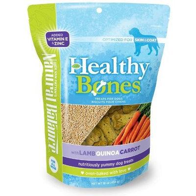 Natural Balance Healthy Bones Treats with Lamb, Quinoa, Carrot for Dogs, 16-Ounce Bag