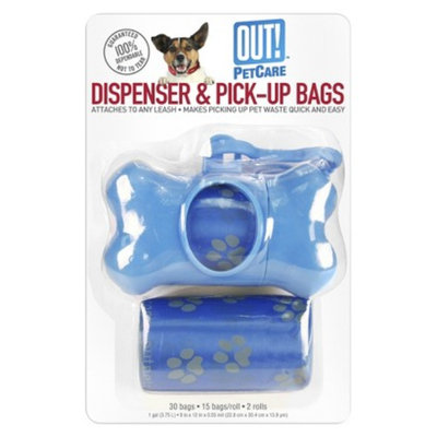 OUT! PetCare Dispenser & Pick-Up Bags 30 ct