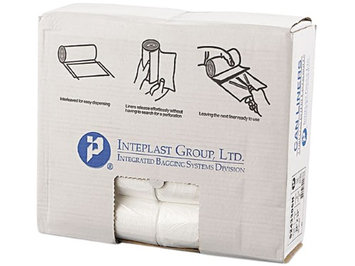 Inteplast Group IBSS243306N Clear High-Density Can Liner 24