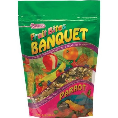 Fm Browns Fruit Bites Banquet Parrot Food, 2-Pound