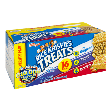 Kellogg's Rice Krispies Treats Variety Pack - Original, Chocolatey Drizzle and Strawberry