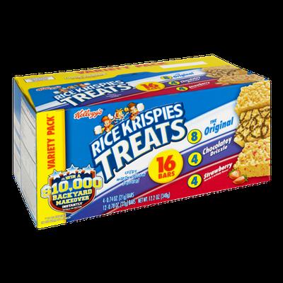 Kellogg's® Rice Krispies Treats Variety Pack - Original, Chocolatey Drizzle and Strawberry