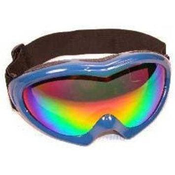 Great Value Blue Frame Ski Goggles Dual Vented Revo Lens Anti Fog Padded Frame Double Lens 100% UV Protection