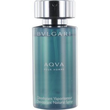 Aqva Pour Homme By Bvlgari Deodorant Natural Spray, 3.4-Ounce
