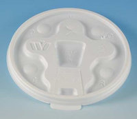 WINCUP DT18 Disposable Lid, Drink Thru, White, PK 1000