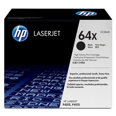 Hewlett Packard HP No. 64x Laserjet Black Toner Cartridge, CC364X