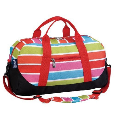 Wildkin Bright Stripes Overnight Duffel Bag [Bright Stripes, Standard Packaging]