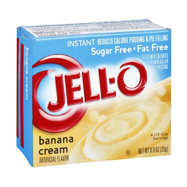 Jell-O Sugar Free Fat Free Banana Cream Instant Pudding & Pie Filling