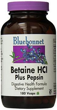 Bluebonnet - Betaine HCI Plus Pepsin - 180 VegCap, Gluten-Free