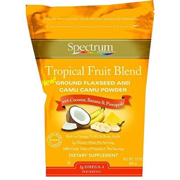 Spectrum Essentials Ground Flaxseed and Camu Camu Powder - Tropical Fruit Blend - 12 oz