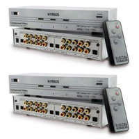 Nyrius SW201 HD Component Video & Digital Audio Optical Toslink Selector Switch Bonus Pack of 2