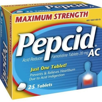 Pepcid AC Maximum Strength - Relieves Heartburn due to Acid Indigestion - 25 tablets