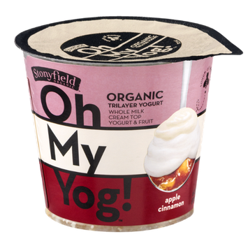 Stonyfield Organic Oh My Yog! Trilayer Yogurt Apple Cinnamon