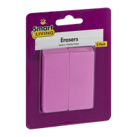 Smart Living Erasers - 2 CT