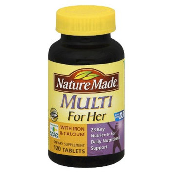 Nature Made Multivitamin For Her with Iron & Calcium Tablets - 120