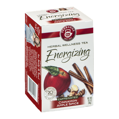 Teekanne Herbal Wellness Tea Energizing Cinnamon Apple Spice -  20 CT