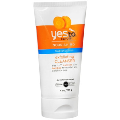 Yes to Carrots Nourishing Exfoliating Cleanser, Fragrance Free, 4 oz