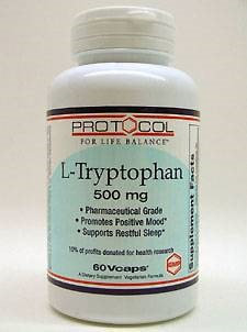 L-Tryptophan 500 mg 60 vcaps by Protocol For Life Balance