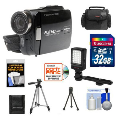Bell & Howell DV5HDZ ZoomTouch 1080p HD High Definition Digital Video Camcorder & Case with 32GB Card + Case + Tripod + LED Video Light + Accessory Kit