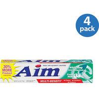 Aim Multi Benefit Fresh Mint Gel Whitening Toothpaste With Baking Soda