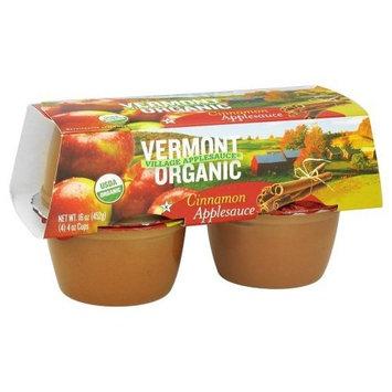 Vermont Village Organic Applesauce Cinnamon -- 4 Cups