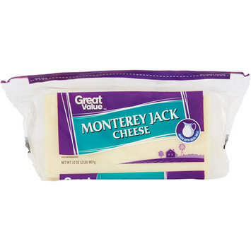 Great Value Natural Monterey Jack Cheese, 32 oz