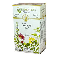 Celebration Herbals Organic Herbal Tea Caffeine Free Anise Seed -- 24 Herbal Tea Bags
