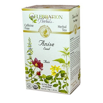 Celebration Herbals Organic Herbal Tea Caffeine Free Anise Seed -- 24 Herbal Tea Bags
