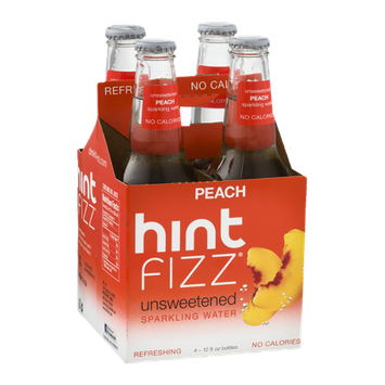 Hint Fizz Unsweetened Sparkling Water Peach - 4 CT