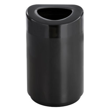 Safco Products Open Top Waste Receptacle, 30 Gallon, Black, 9920BL