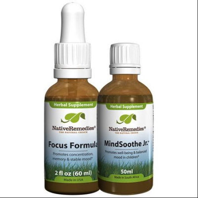 Native Remedies Native Remedies Calm Mind ComboPack for Kids - Focus Formula + MindSoothe Jr.