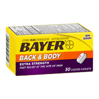 Bayer Back & Body Coated Caplets - 50 CT