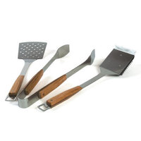 The Companion Group CC1110 Pacific Bamboo 3PC BBQ Tool Set (S#44;T#44;GB)