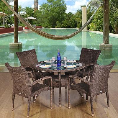 Intl. Home Miami Bari 5-Piece Dining Set