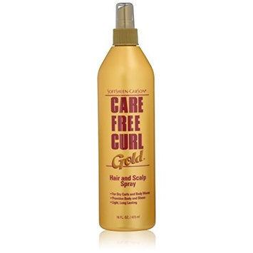 Care Free Curl Gold Hair Scalp Spray, 16 Fluid Ounce